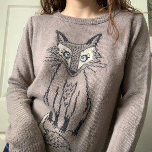 Dorothy Perkins Woodland Winter Fox Sweater 🦊